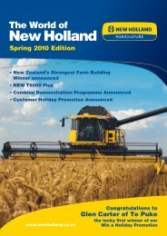 Spring 2010 Edition - New Holland Agriculture