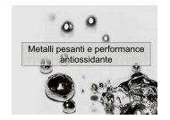 Metalli pesanti e performance antiossidante