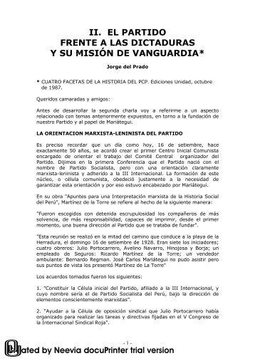 II parte - Partido Comunista Peruano