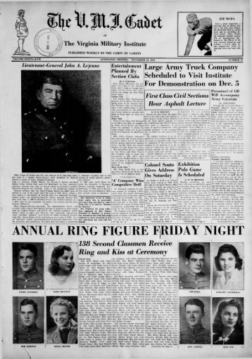 The Cadet. VMI Newspaper. November 23, 1942 - New Page 1 ...
