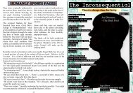 Issue 14 - The Inconsequential