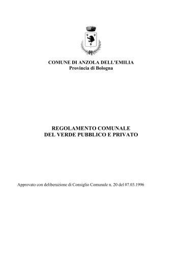 regolamento comunale del verde pubblico e privato - Comune di ...