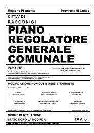PIANO REGOLATORE GENERALE COMUNALE - Comune di ...
