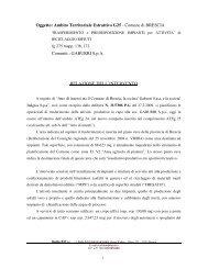 relazione intervento - Comune di Brescia