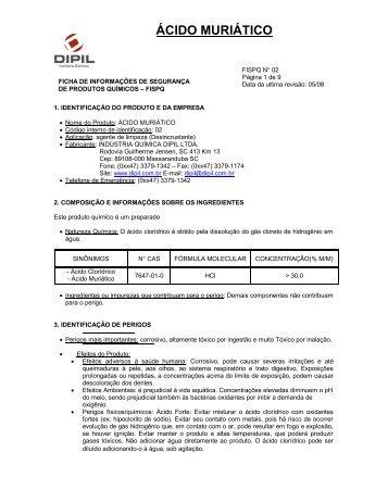 ÁCIDO MURIÁTICO - Dipil
