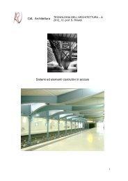 dispensa acciaio - Architettura