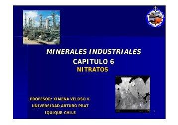 MINERALES INDUSTRIALES CAPITULO 6 - Universidad Arturo Prat
