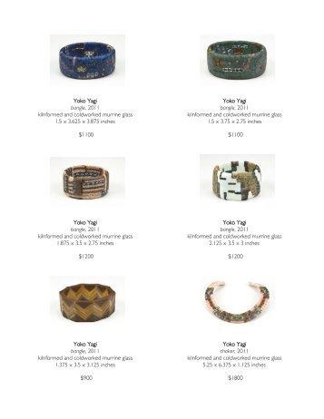 Yoko Yagi bangle, 2011 kilnformed and coldworked murrine glass ...