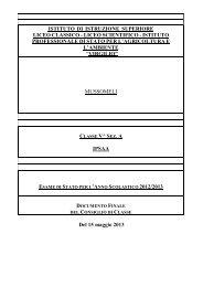 DOCUMENTO 15 MAGGIO Classe V A IPSASR ... - Iissmussomeli.it