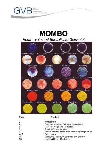 MOMBO Rods – coloured Borosilicate Glass 3.3 - GVB