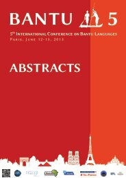 here - 5th International Conference on Bantu Languages