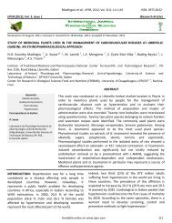 Vol. 3(1) - International Journal of Pharmaceutical Sciences and ...