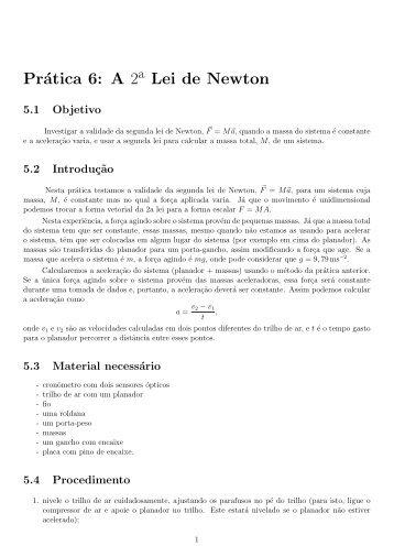 segunda lei de Newton - IF/UERJ