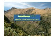 Tropical Ecology WBNZ 800 Altitudinal zonation in tropical areas