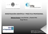 investigación científica y práctica profesional - orto medical care