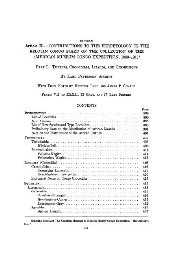 Article 11.- CONTRIBUTIONS TO THE HERPETOLOGY OF ... - Lacerta