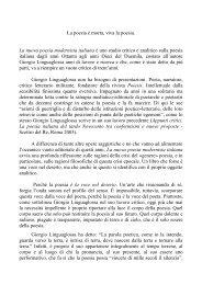 La nuova poesia modernista italiana
