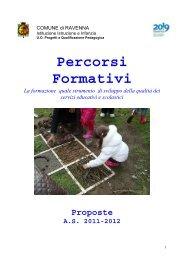 Percorsi formativi a.s. 2011/2012 - Istruzione e Infanzia
