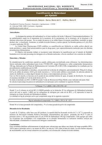 E-060 - Universidad Nacional del Nordeste