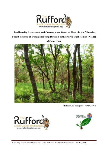 Detailed Final Report - Rufford Small Grants