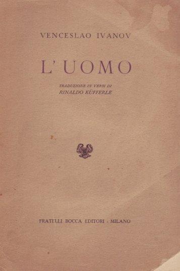 Venceslao Ivanov. L'Uomo. 1946. EBook 2011