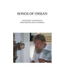 SONGS OF OSSIAN - Åbo Akademi