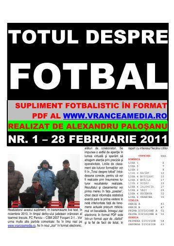 totul despre fotbal, numărul 1 din 28.02 - Vrancea Media