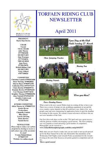 Newsletter April2011 - Torfaen Riding Club
