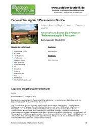 Ferienwohnung für 8 Personen in Bucine - Outdoor-Touristik