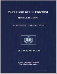 catalogo delle edizioni hoepli, 1872-1896 - World eBook Library