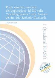 Spending Review - Agenzia di Sanità Pubblica della Regione Lazio