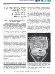 Full recovery from Baylisascaris procyonis eosinophilic meningitis