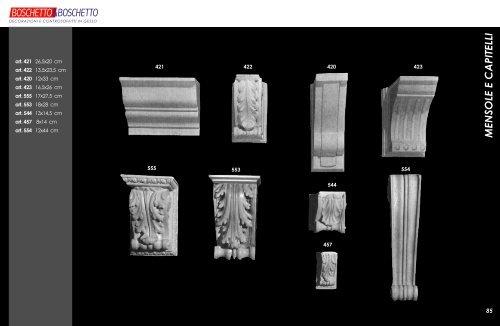 Mensole e capitelli decorazioni in gesso boschetto - Decorazioni in gesso ...