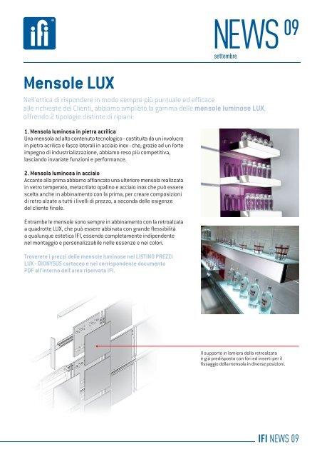 Mensole In Vetro Luminose.News Mensole Lux 01 Ifi