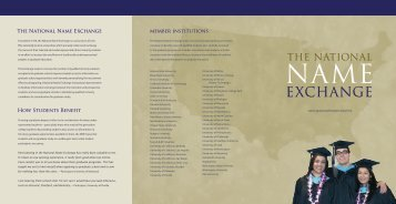 Download the NNE Brochure - Graduate School - University of ...
