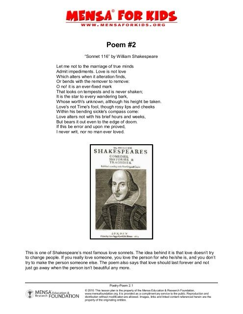 Teach Besides Me: Shakespeare Most Famous Sonnet