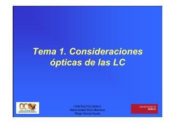 Tema 1. Consideraciones ópticas de las LC - OCW