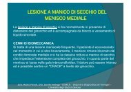 lesione a manico di secchio del menisco mediale - Sezione di ...