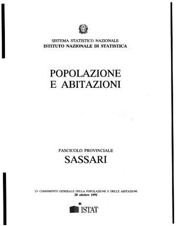 POPOLAZIONE E ABITAZIONI SASSARI • - Istat