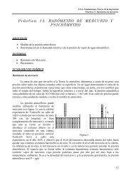 Práctica 13. BARÓMETRO DE MERCURIO Y PSICRÓMETRO