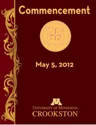 Commencement - University of Minnesota, Crookston