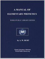 A MANUAL OF ELEMENTARY PHONETICS - World eBook Library