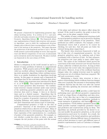 A computational framework for handling motion - Computer ...