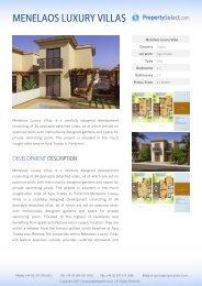 MENELAOS LUXURY VILLAS - Property Select