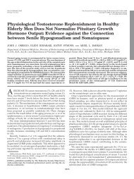 Physiological Testosterone Replenishment in Healthy Elderly Men ...
