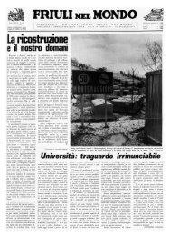 FRIULI NIX MONDO - Ente Friuli nel Mondo