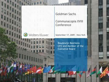 Goldman Sachs Communacopia XVIII Conference - Wolters Kluwer