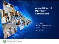 Annual General Meeting of Shareholders - Wolters Kluwer
