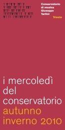 Piano Recital - Conservatorio di musica Giuseppe Tartini