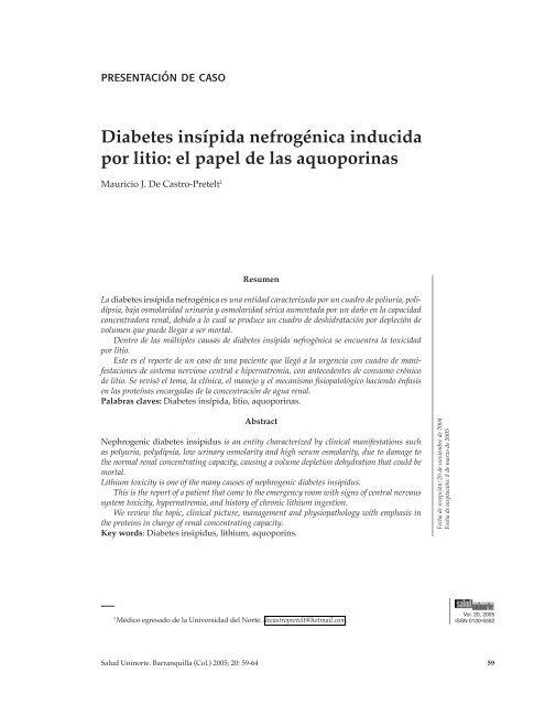 médicos especializados en diabetes insípida